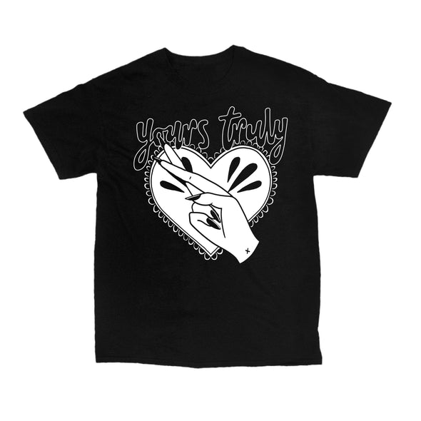 Cross Heart Tee (Black)