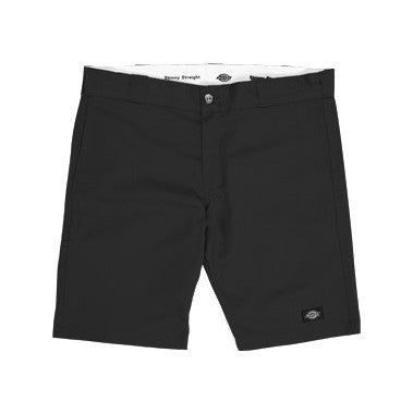 "Skinny Straight Fit 10"" Shorts (Black)"