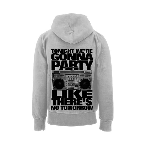 Deez Nuts merch Boombox Hoodie (Grey)