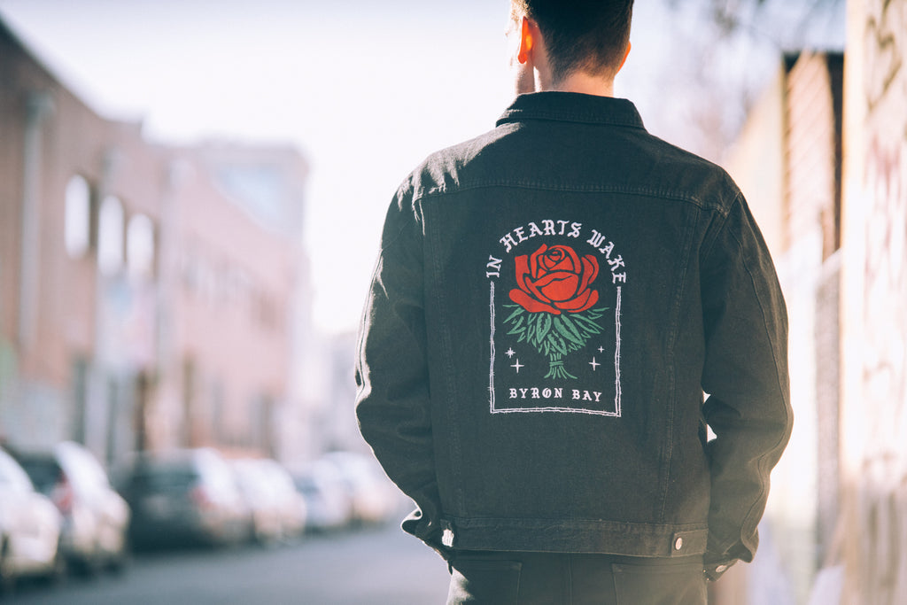 Roses Embroidered Denim Jacket