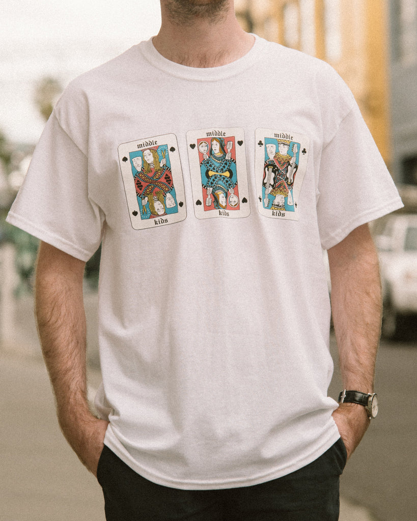 White Playing Cards Tee