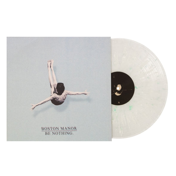 "Boston Manor merch Be Nothing 12"" Vinyl (Clear with White and Electric Blue splatter)"