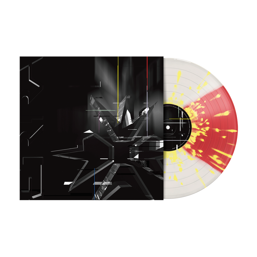 "ERRA 12"" Vinyl (DIVISION - Cloudy Clear & Transparent Red Quad with Yellow Splatter)"