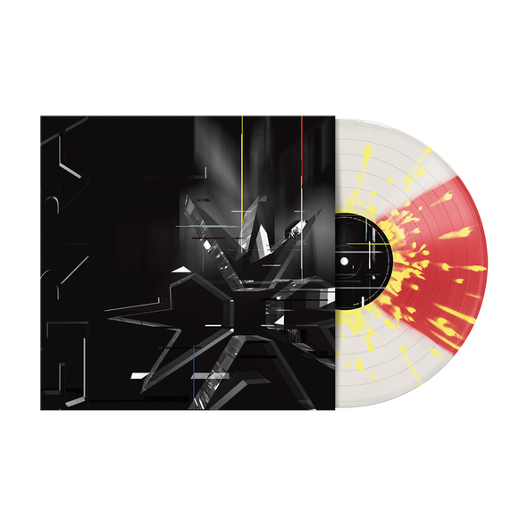 "ERRA 12"" Vinyl (DIVISION - Cloudy Clear & Transparent Red Quad with Yellow Splatter) // PREORDER"