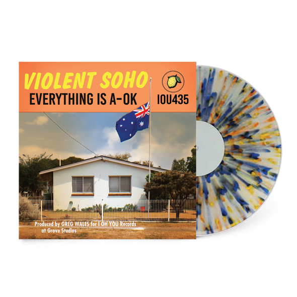 "Everything Is A-OK 12"" Vinyl (Clear w/ Blue, Orange, Yellow Splatter) // PREORDER"