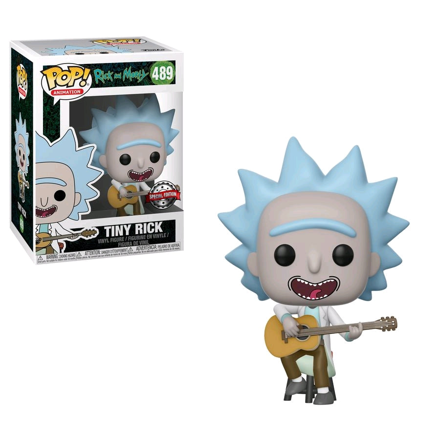Rick and Morty - Tiny Rick with Guitar Pop! Vinyl Figure