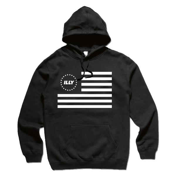 Illy Official Merch - Flag Hoodie (Black)