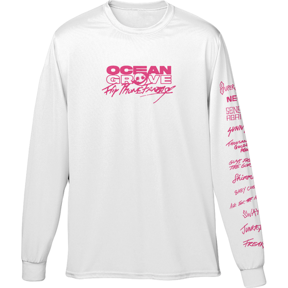 Flip Phone Fantasy Long Sleeve (White) + Album Digital Download // PREORDER