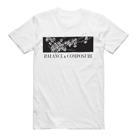 Balance and Composure Official Merch - Flower Tee (White)