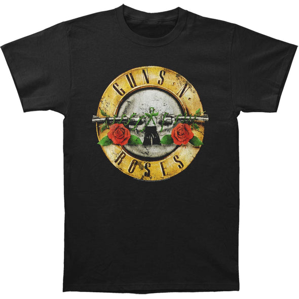 Guns N Roses merch Distressed Bullet Tee (Black)