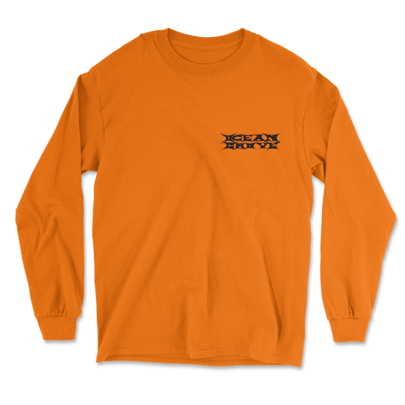 Skeleton Longsleeve (Safety Orange)