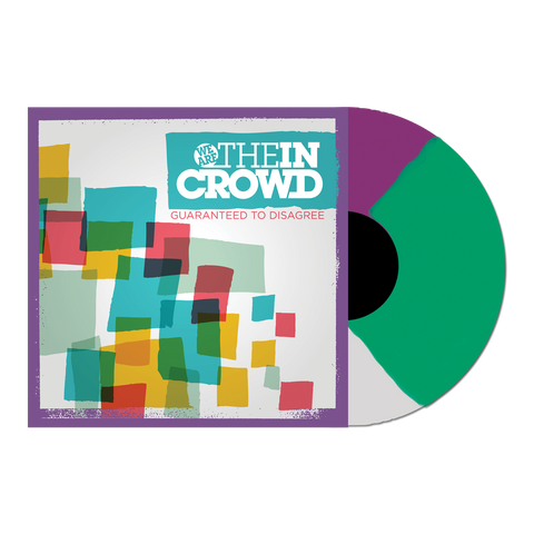 "We Are The In Crowd Official Merch - Guaranteed To Disagree 12"" Vinyl (Purple + White + Green Tri-Colour)"
