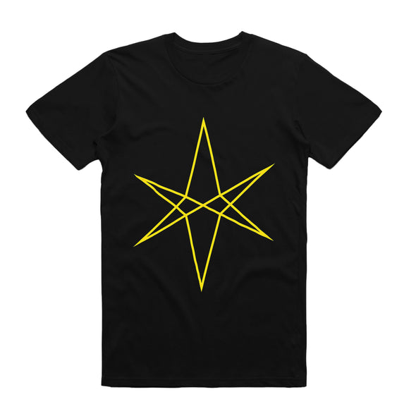 Hexagram Tee (Yellow on Black)
