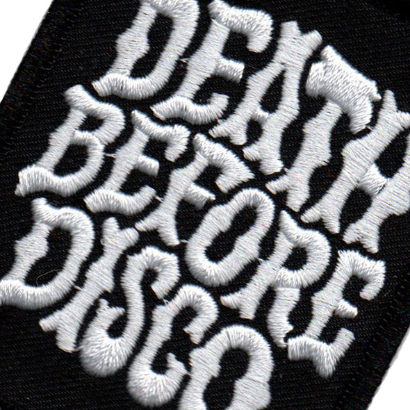 Death Before Disco Embroidered Patch (Black)