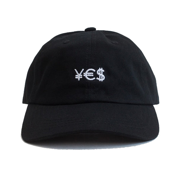 ¥€$ Embroidered Hat (Black)