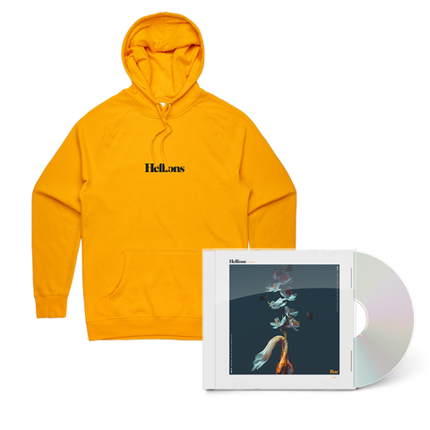 Rue CD + Embroidered Hoodie Bundle (Gold)