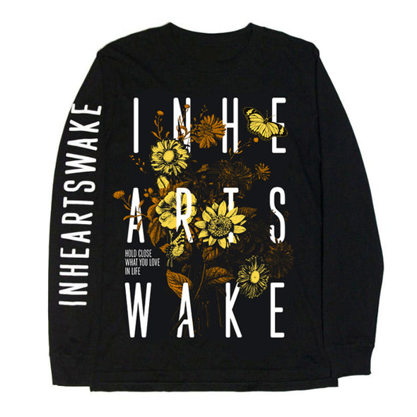 Wildflower Organic Longsleeve (Black/Yellow) // PREORDER