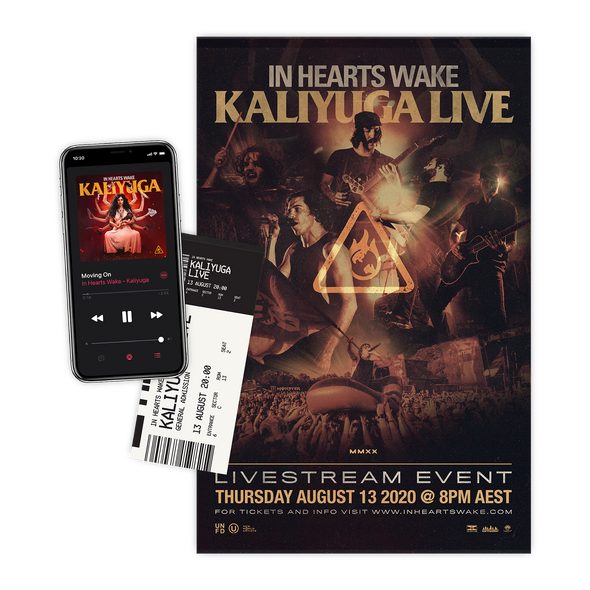 Kaliyuga Live Ticket + Album Digital Download + Signed Poster