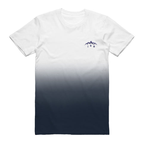 Mountain Embroidered Tee (Dip Dye)