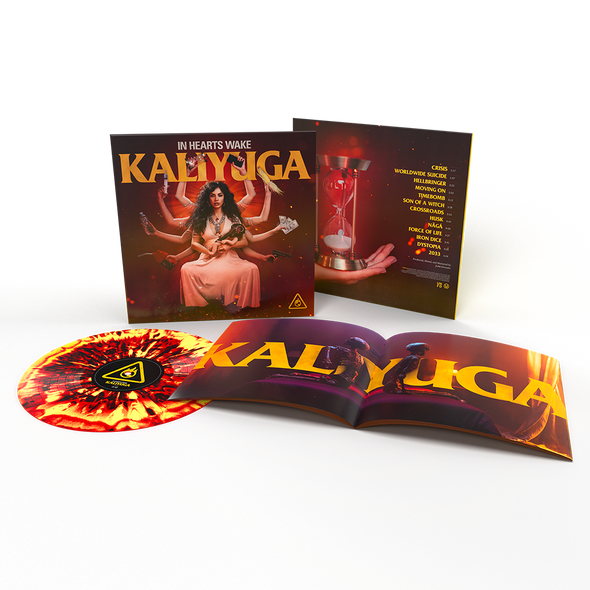 "Kaliyuga 12"" Vinyl (FLAME - Red/Yellow/Black Marble) // PREORDER"