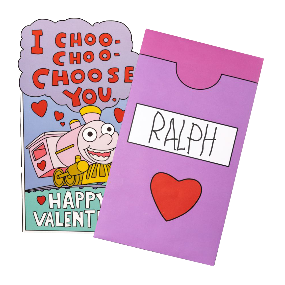 The Simpsons - I Choo Choo Choose You Replica Valentine's Day Card