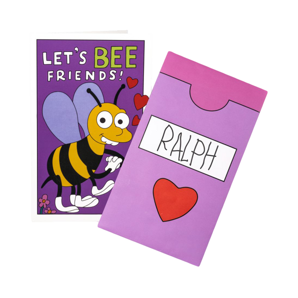 The Simpsons - Let's Bee Friends Replica Valentine's Day Card