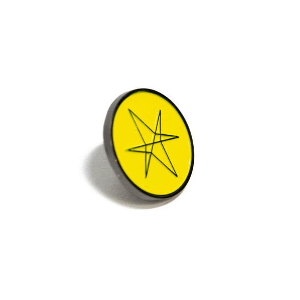 Hexagram Enamel Pin (Yellow)
