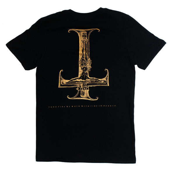 Goat Inverted Cross T-Shirt (Black)