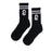 Cold World Supply Co. merch CW Tube Socks (Black w/ White)