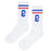 Cold World Supply Co. merch CW Tube Socks (White w/ Blue and Red)