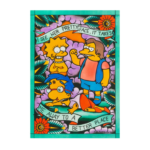 "Blink 182/Simpsons Mashup ""Josie"" A4 Print"