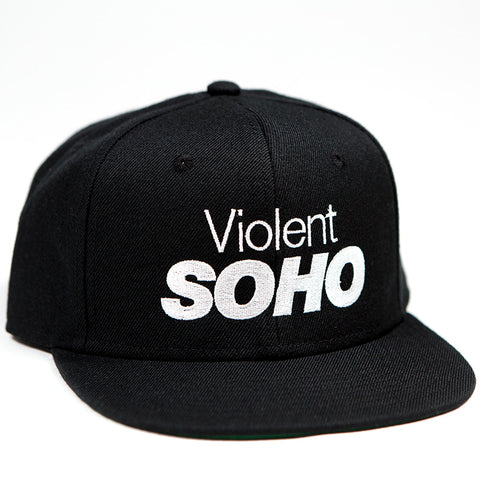 SOHO Embroidered Snapback - Black