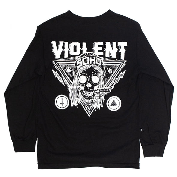 Blazin' Skull Long Sleeve (Black)