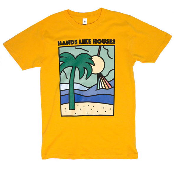 Hands Like Houses merch Rectangle Tee (Gold)
