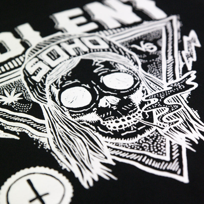Violent Soho merch Blazin' Skull Hoody (Black)