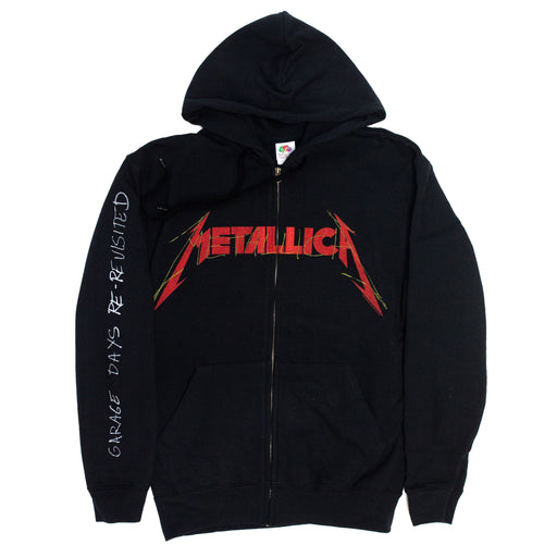 Garage Photo Zip-Up Hoodie (Black)
