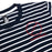 Striped Tee Embroidered Logo Tee (Navy/White)