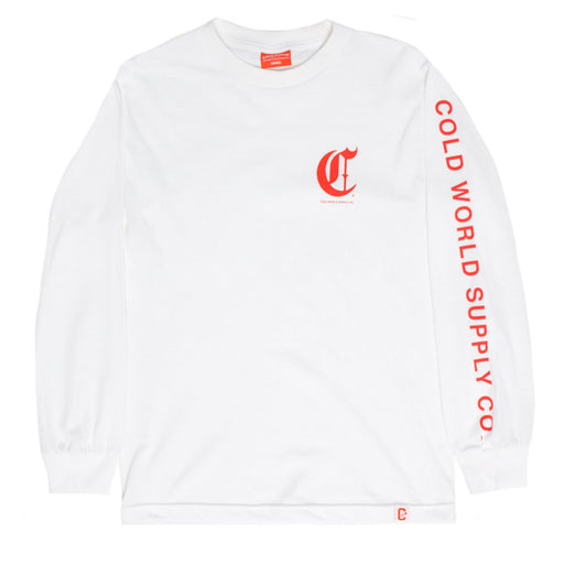 Cold World Supply Co. merch Olde C long sleeve (White)