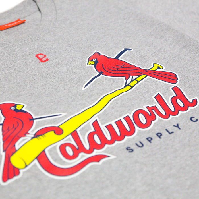 Cold World Supply Co. merch Cards Tee (Heather Grey)