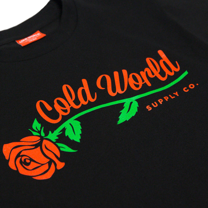 Cold World Supply Co. merch Rose Tee (Black)
