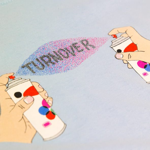 Turnover merch Spray Tee (Blue)