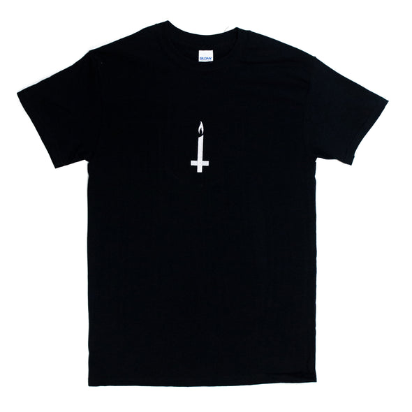 New Cross Embroidered Tee (Black)