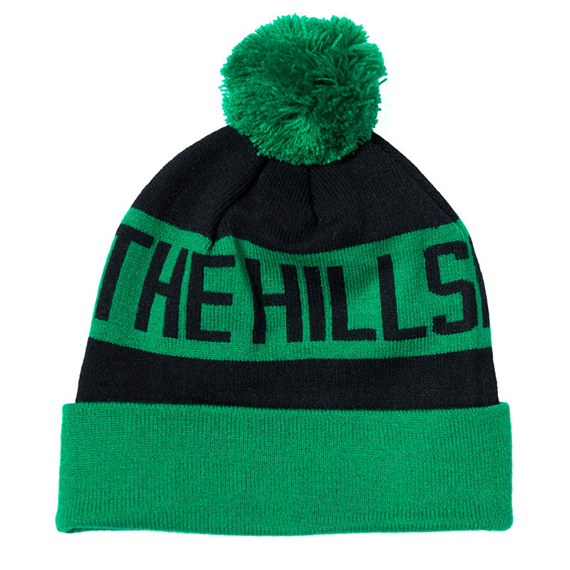 The Hills Are Alive Official Merch - The Hills Beanie (Green & Black)