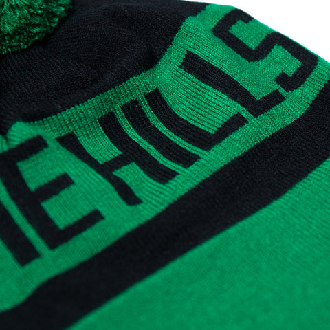 The Hills Beanie (Green & Black)