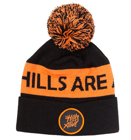 The Hills Beanie (Orange & Black)
