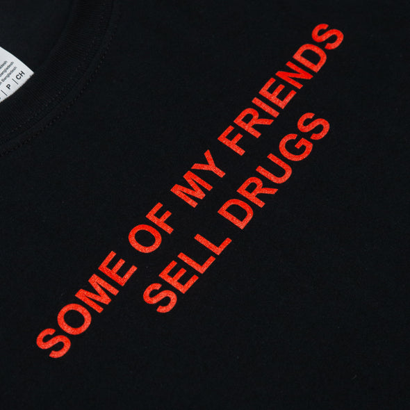 Some Of My Friends Tee (Red on Black)