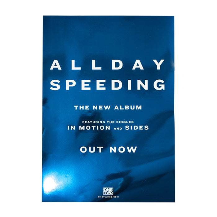 Allday Official Merch - Speeding (A2 Blue Poster)