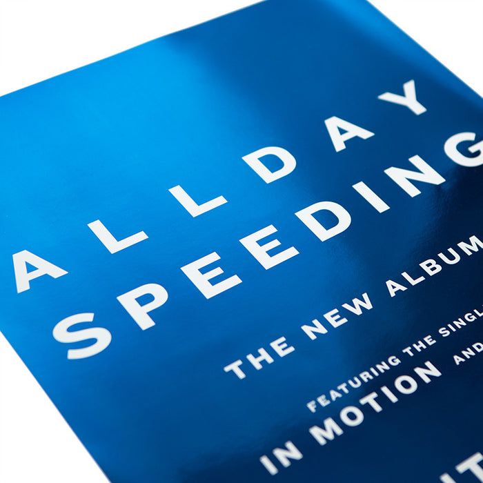 Speeding (A2 Blue Poster)
