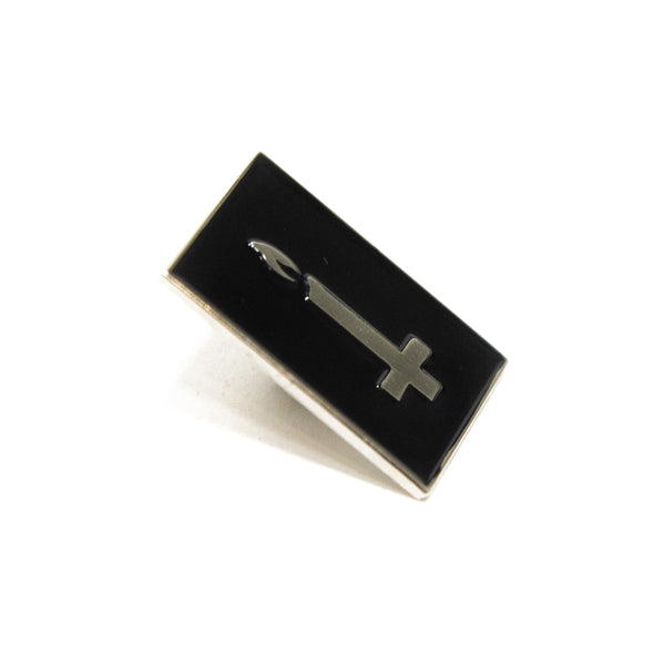 New Cross Enamel Pin (Silver)