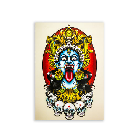 Drew Shallis Official Merch - Kali Goddess - A3 Print